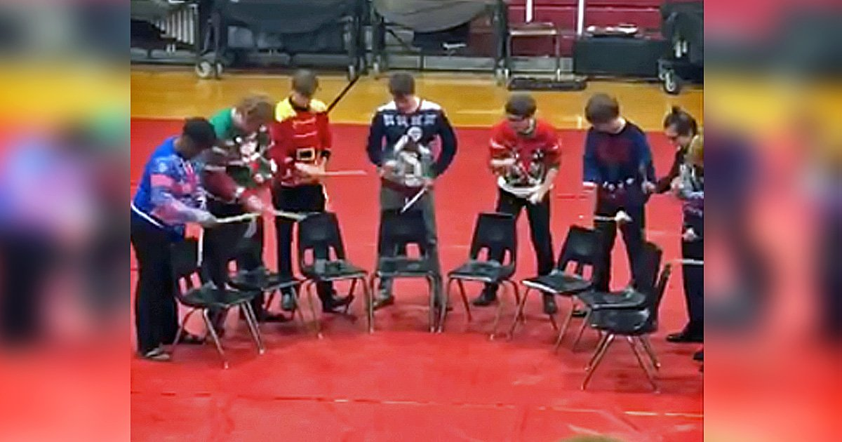 high school band drumline