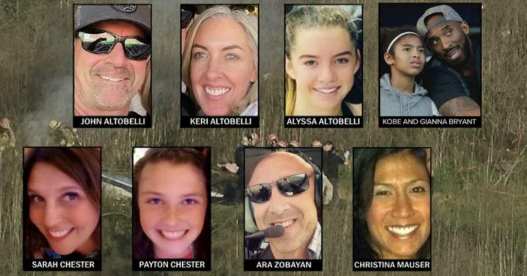 kobe bryant family death crash victims