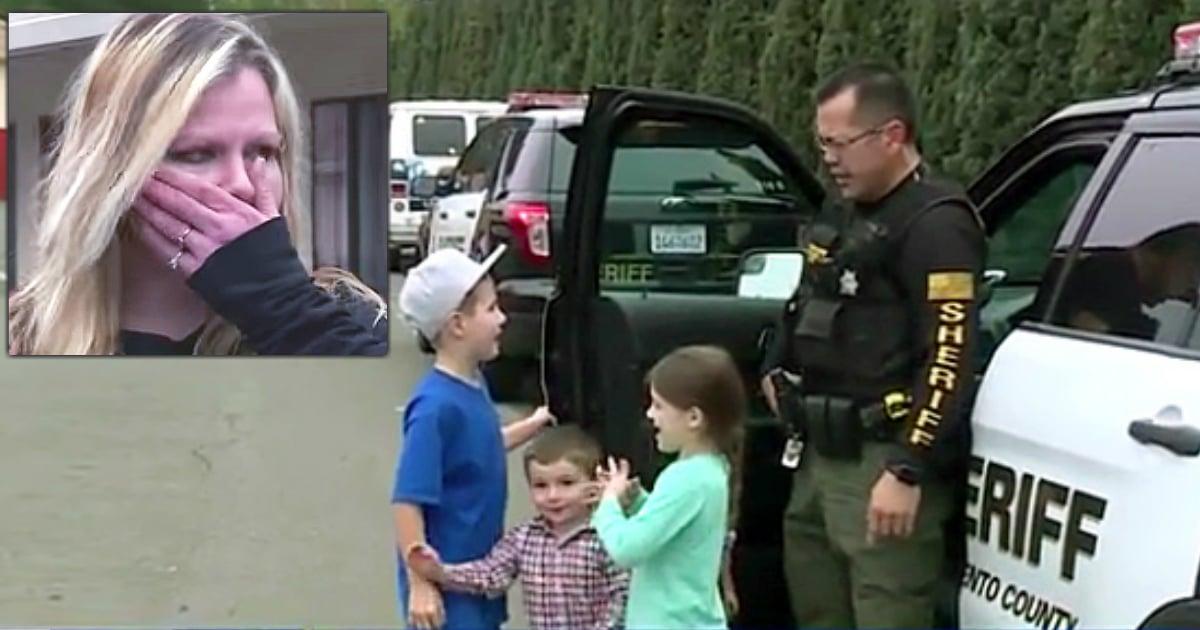 sacramento police officers homeless family walmart