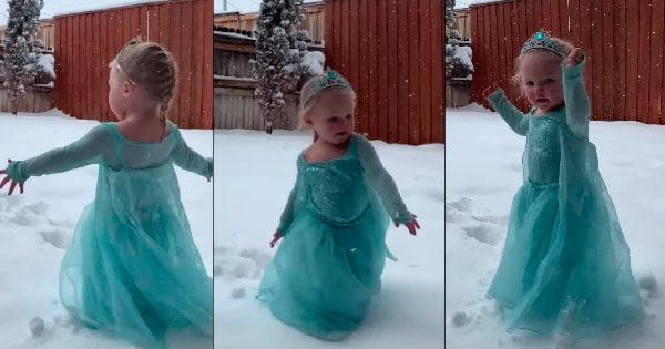 Little Elsa Sings Let It Go