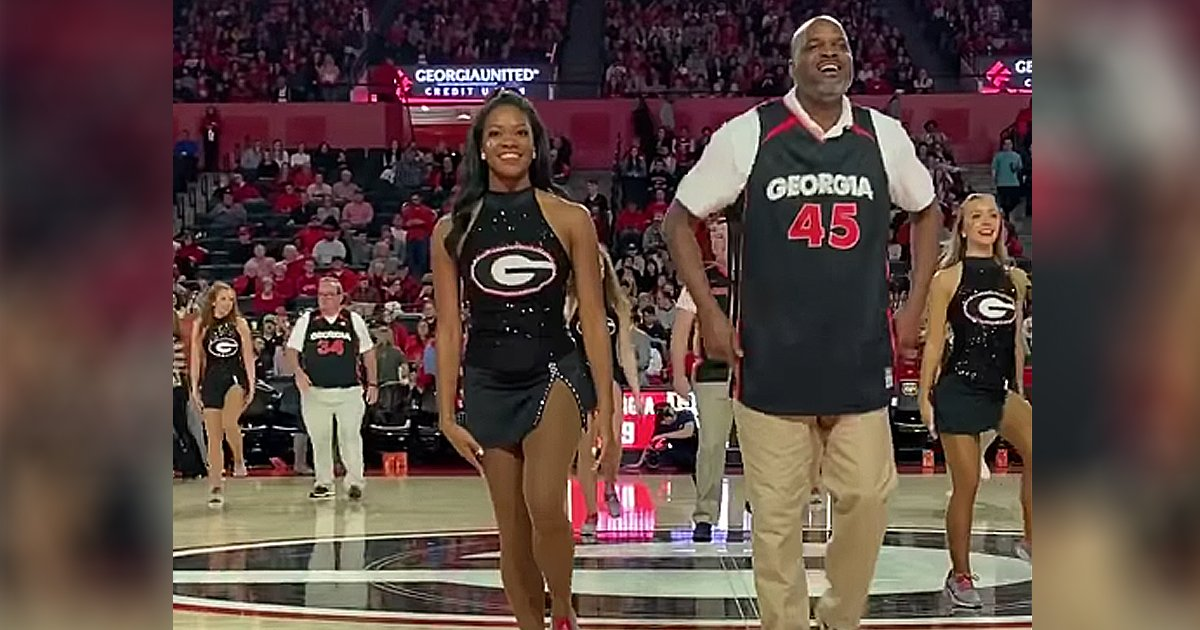 dads do cheer routine UGA Dance Dawgs