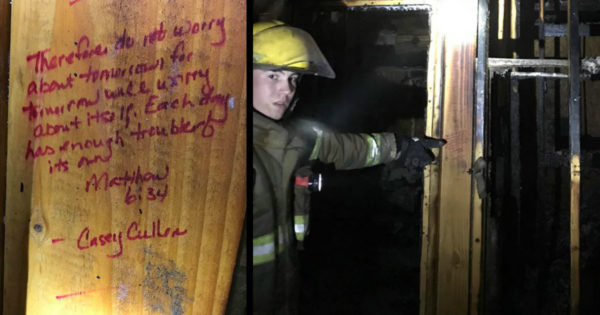 Fire Destroyed House Entirely Except For Where Scripture Is Written, Leaving Firefighters In Awe