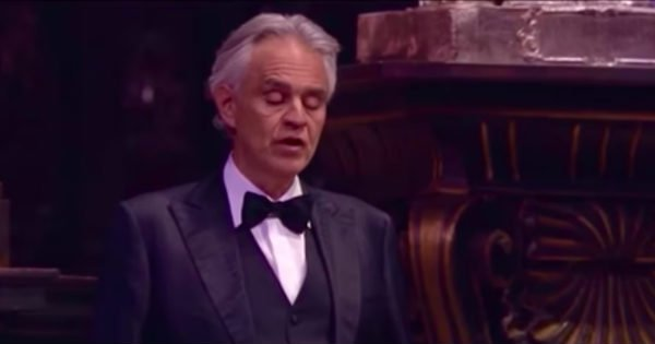 Andrea Bocelli singing Ave Maria