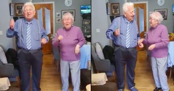 lyrics to Staying Alive elderly couple in quarantine