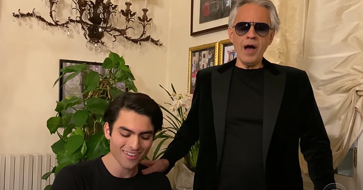 Andrea Bocelli and Son Matteo Fall On Me Quarantine Duet