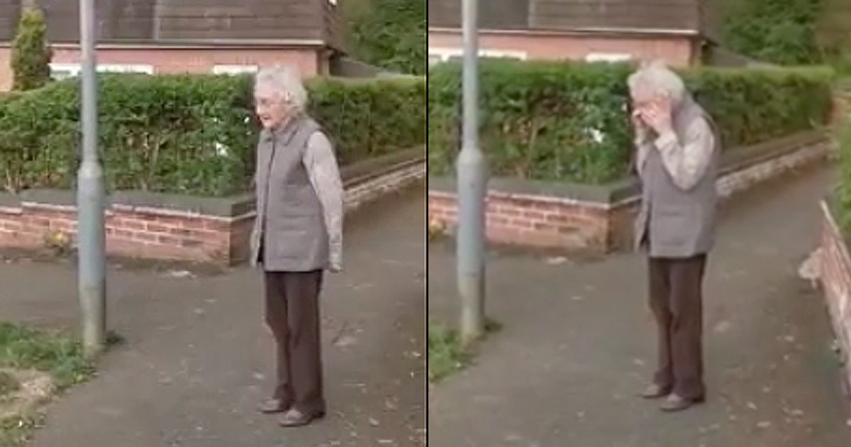 sing happy birthday song to 98-year-old neighbor