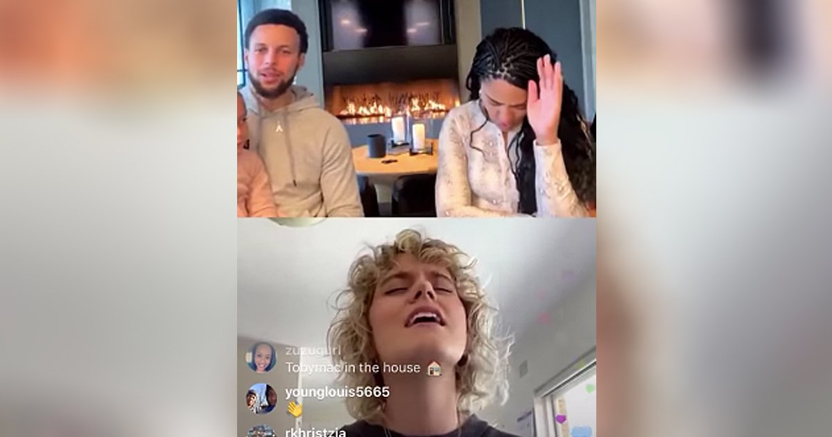 Hillsong United Tanya Smith And Stephen Curry And Family
