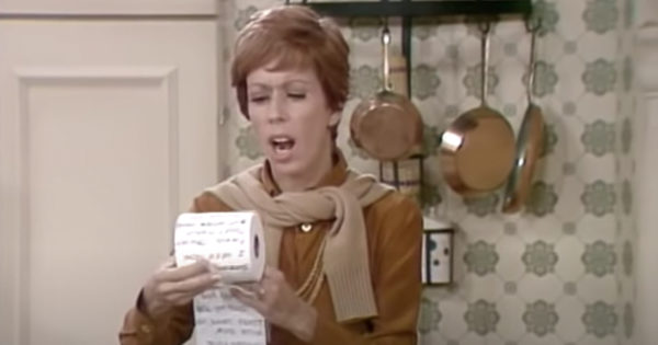 Classic Carol Burnett Toilet Paper Skit From The 70s Hilariously Rings True Decades Later