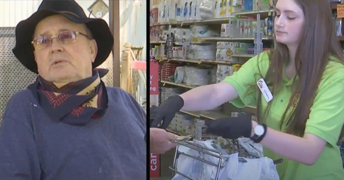 pay for groceries teen cashier act of kindness