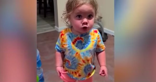 toddler argues with mom