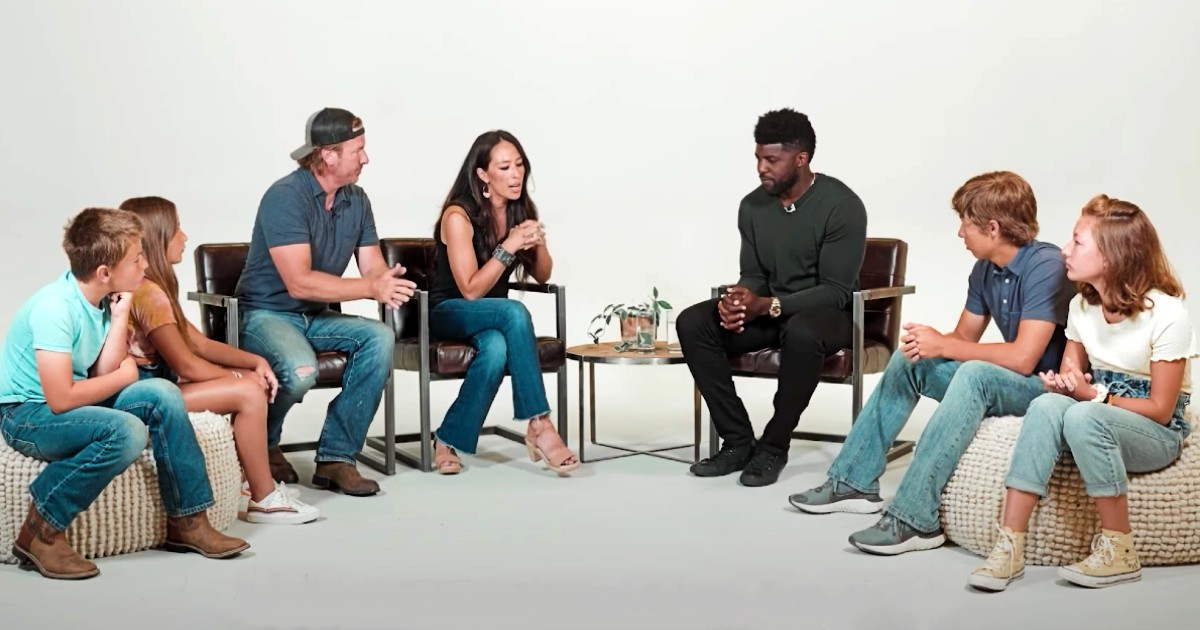 joanna gaines family uncomfortable conversation emmanuel acho