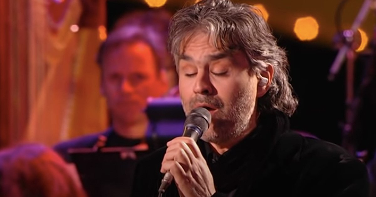 andrea bocelli live performance can't help falling in love