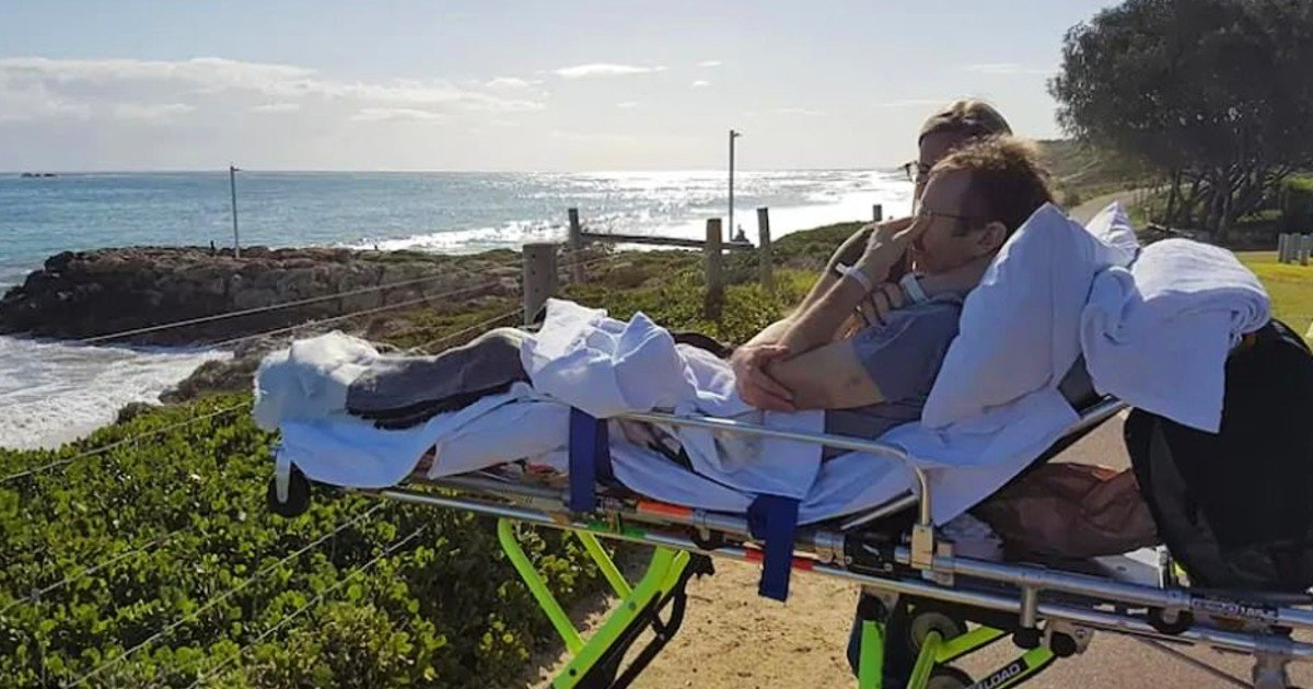 chris shaw dying wish to see beach