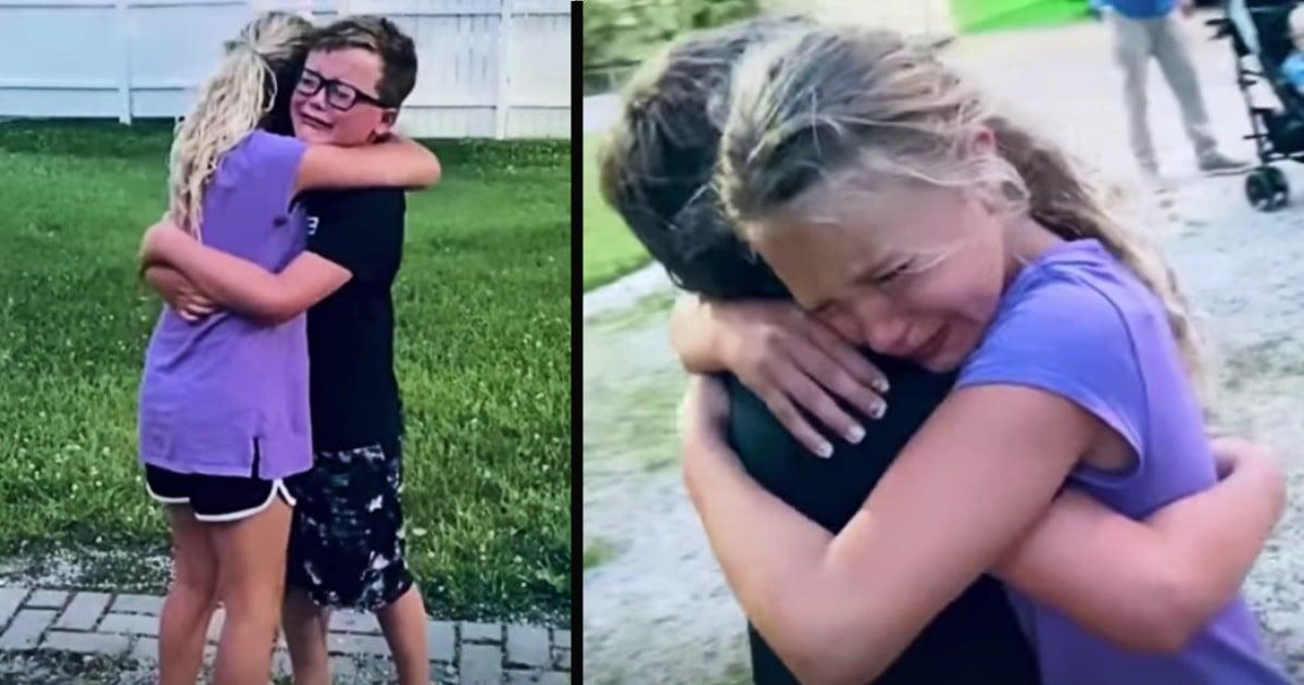 first hug since quarantine