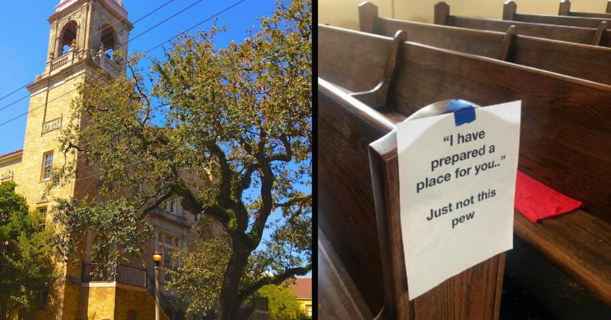 funny church signs on pews social distancing