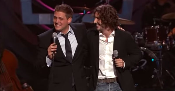 josh groban and michael buble funny skit