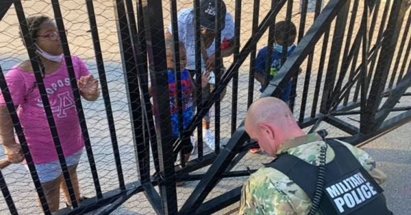 Soldier Kneels As 5-Year-Old Boy Boldly Prays For Him And It Nearly Brings The Man To Tears