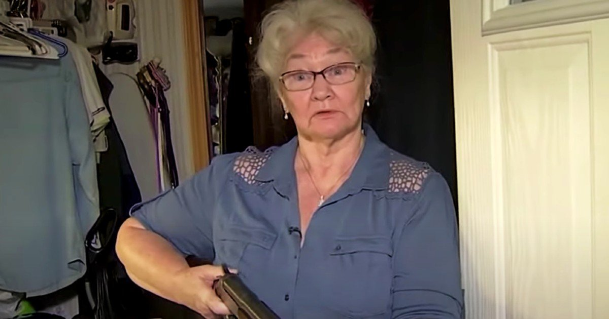 grandma with gun stops burglar