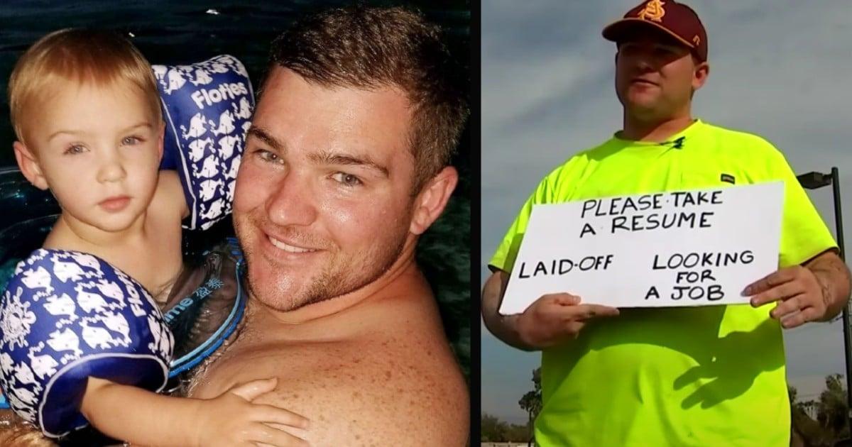 unemployed dad Patrick Hoagland
