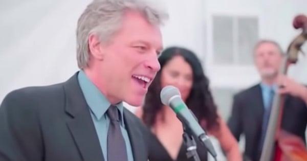 bon jovi sings at a wedding