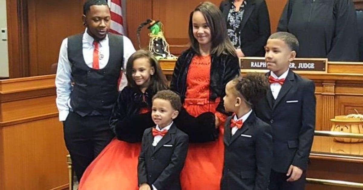 single dad adopts 5 siblings robert carter