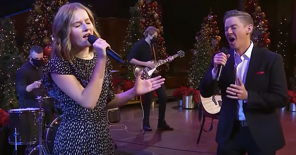 daddy-daughter duet o come all ye faithful