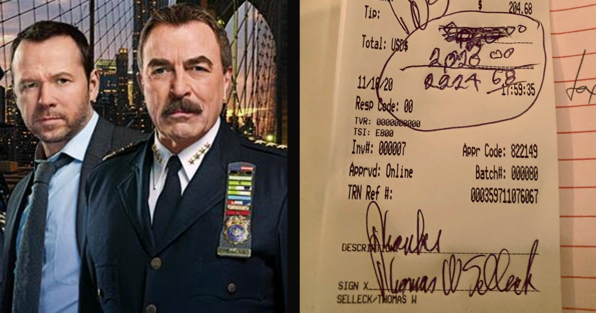blue bloods tom selleck tip