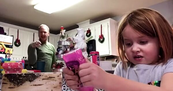 Dad Dancing In The Background Of Daughter's Video Doesn't Realize She's Filming for School