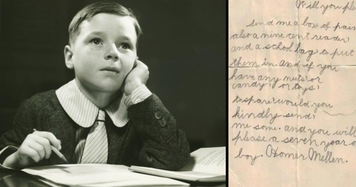 sent a letter to santa 1915 homer mellen
