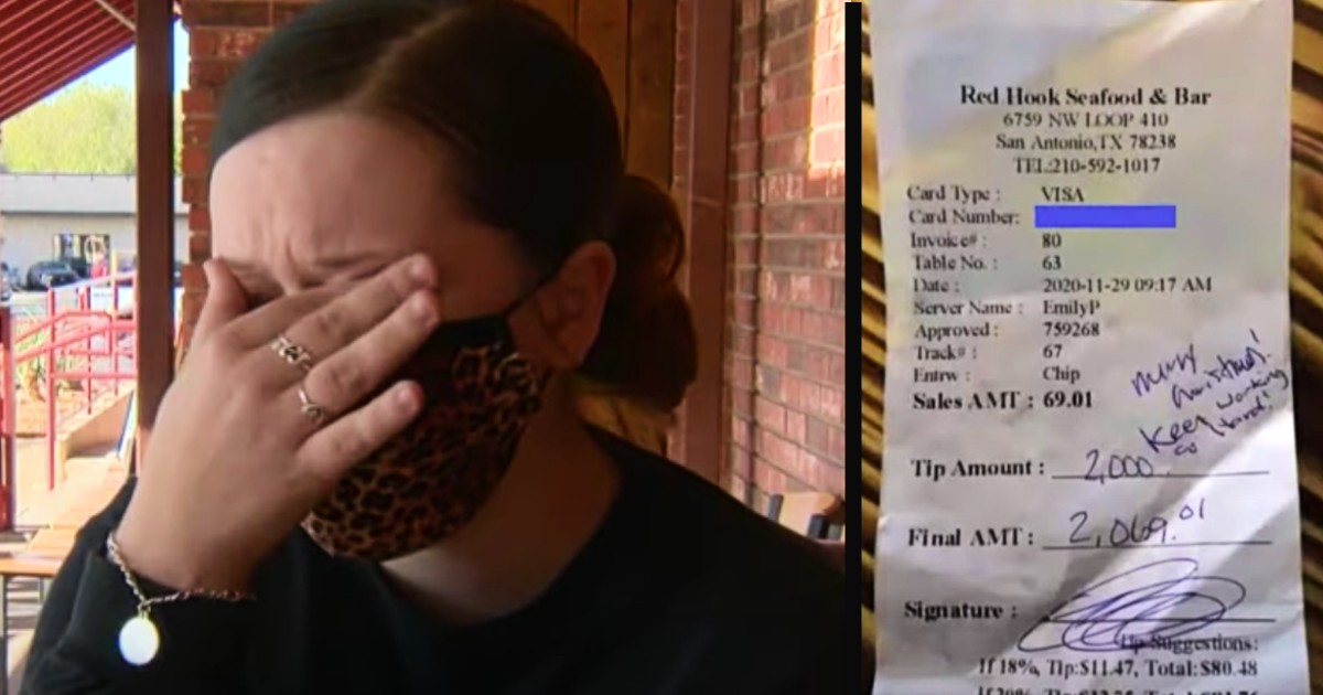 texas waitress $2,000 tip