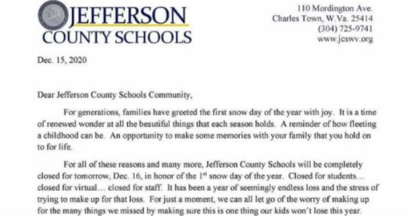 snow day announcement
