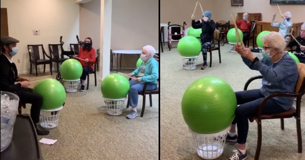 drumstick exercise class retirement home