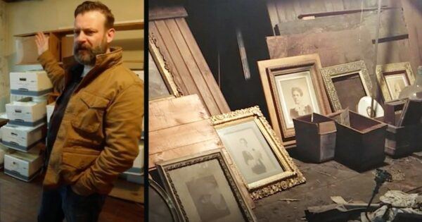 Man Spots Something Odd About Ceiling And Stumbles Into Secret Attic Room Full Of Treasures