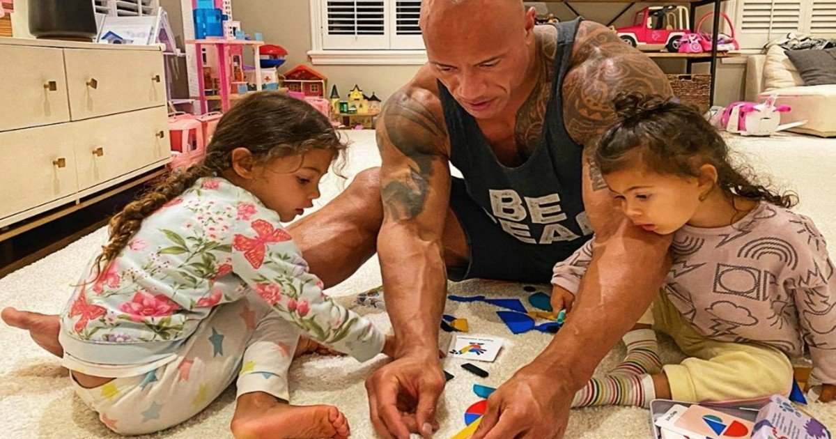 dwayne the rock johnson father girl dad