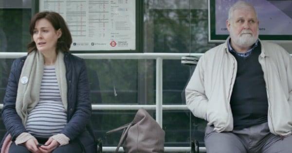 conversation at bus stop