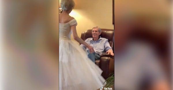 grandma wears wedding dress 60 years later