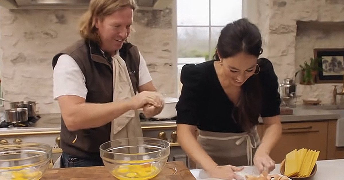 Joanna and Chip Gaines in the kitchen
