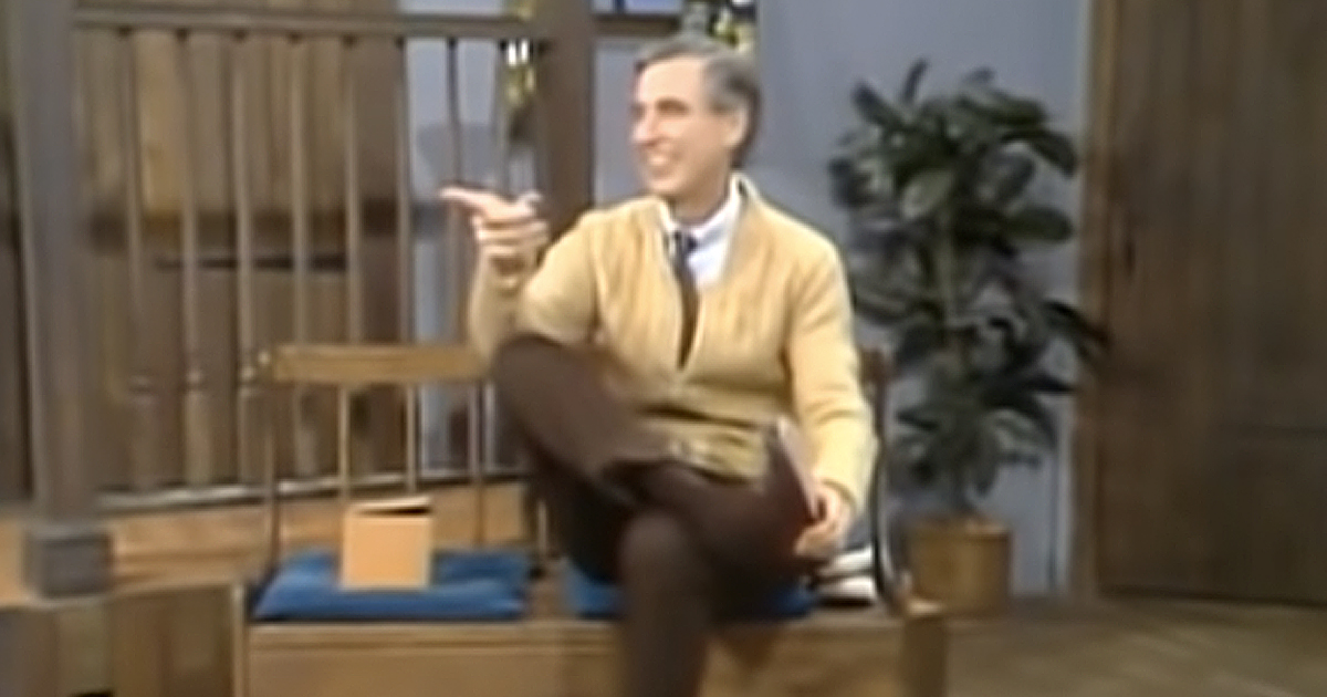 Mister Rogers reaction to prank