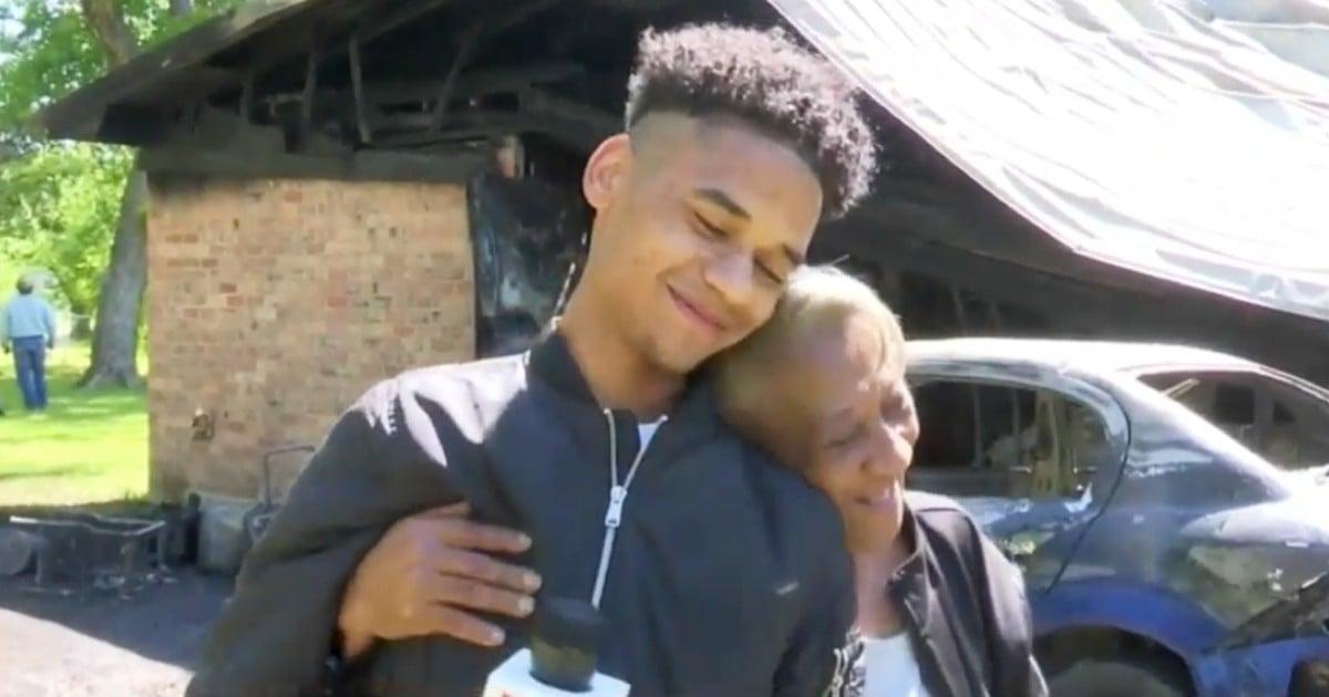 elderly woman saved from fire by teen guardian angel