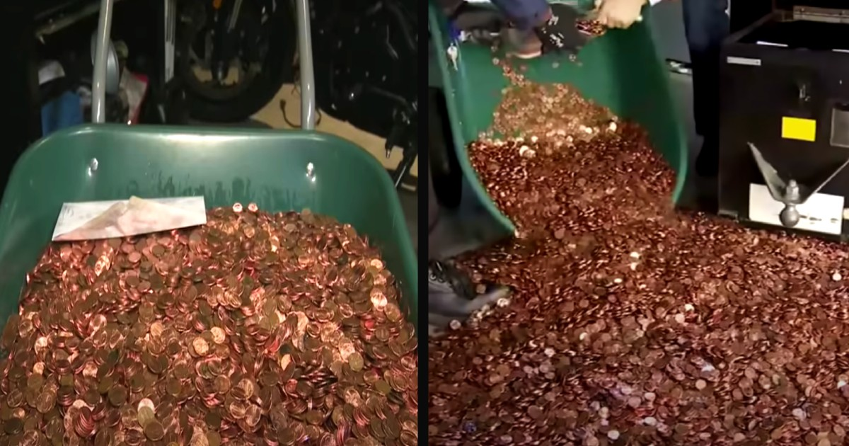 pays in pennies last paycheck