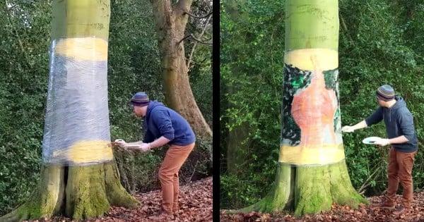 tree illusion artist howard lee