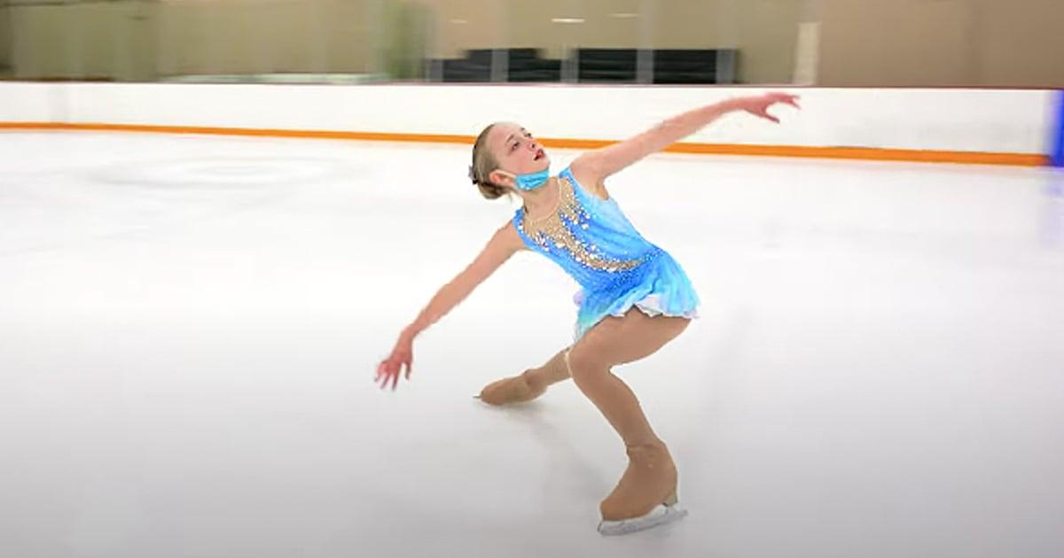 10-year-old ice skater Lolly Barnsbee