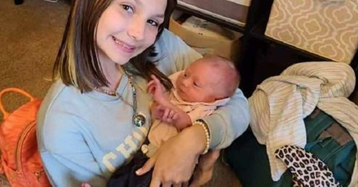 girl delivers baby brother shyanne jordan eck