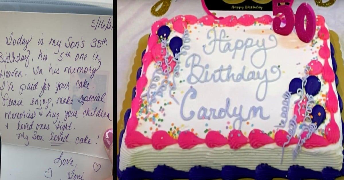 stranger paid for birthday cake