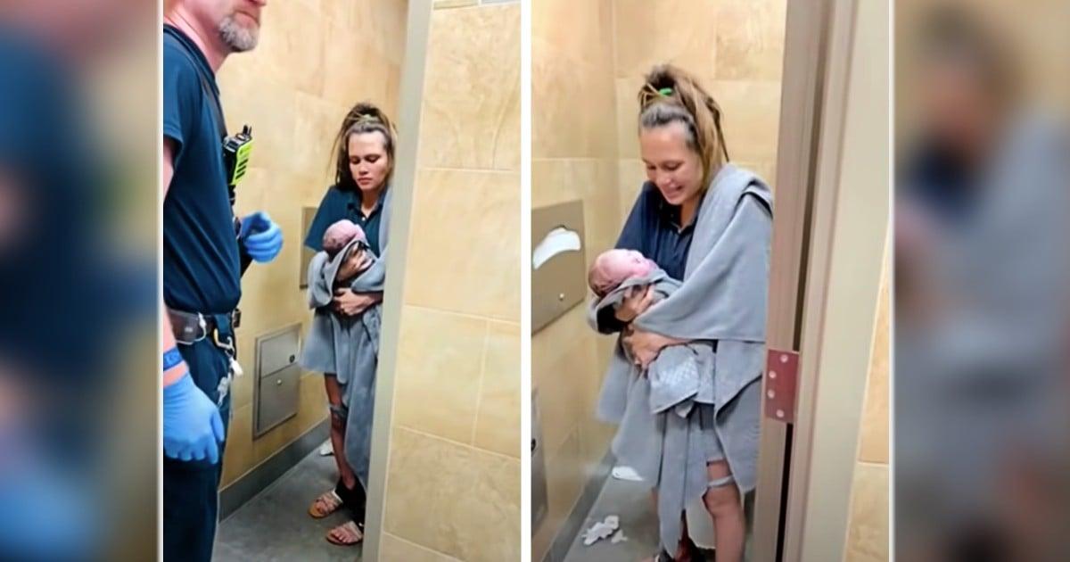 birth in bathroom gas station