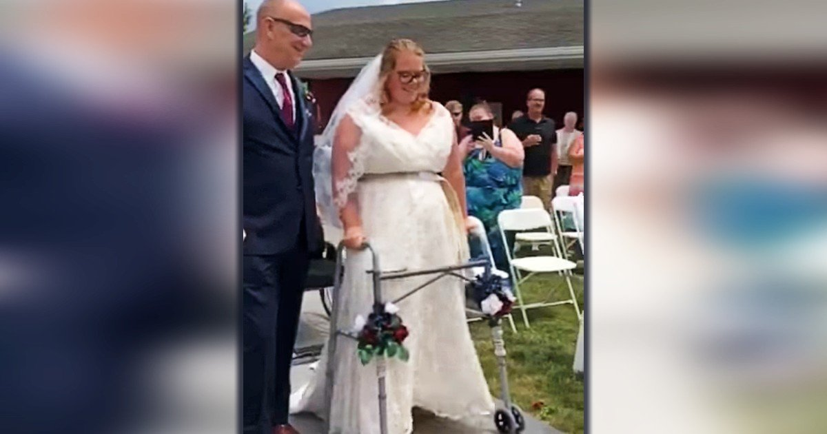 paralyzed bride walks down the aisle brittney bedwell