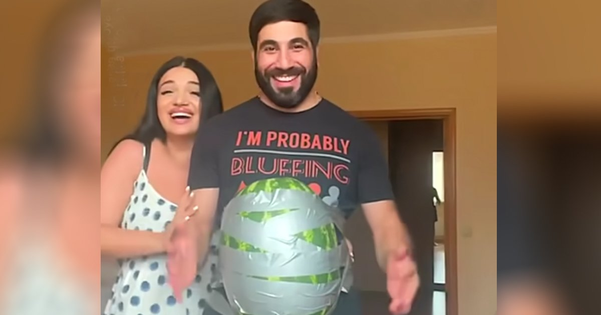 what it's like to be pregnant watermelon dad