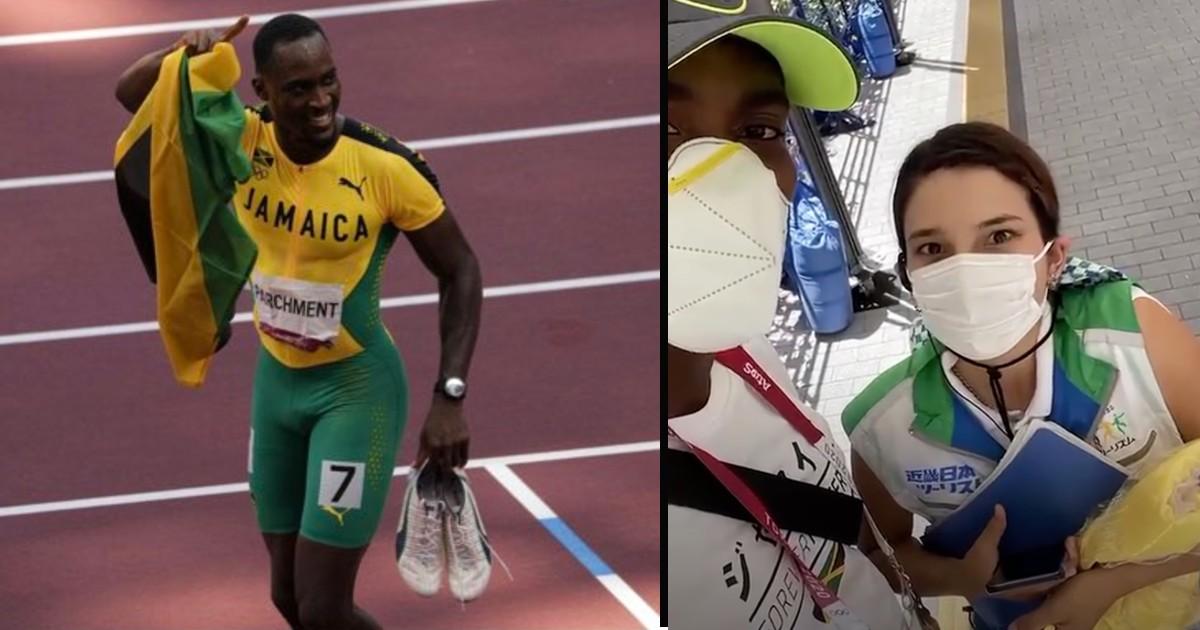 Jamaican hurdler Hansle Parchment