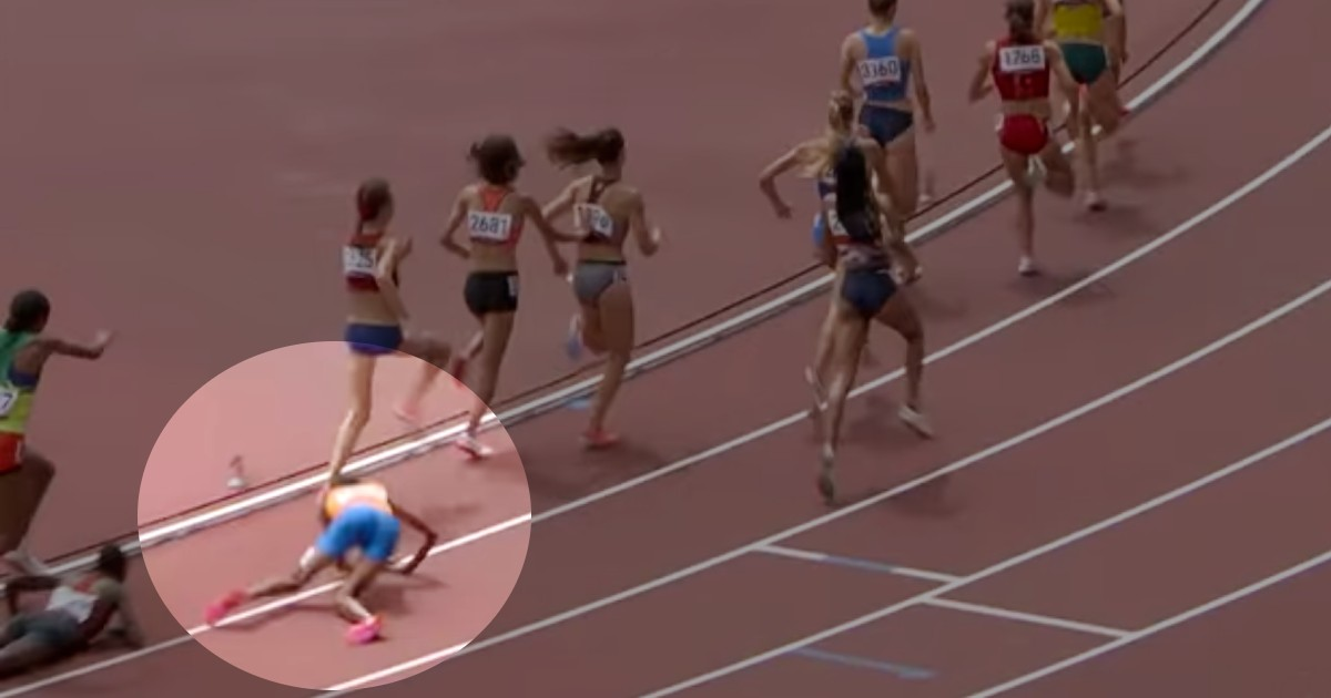 olympic runner falls sifan hassan