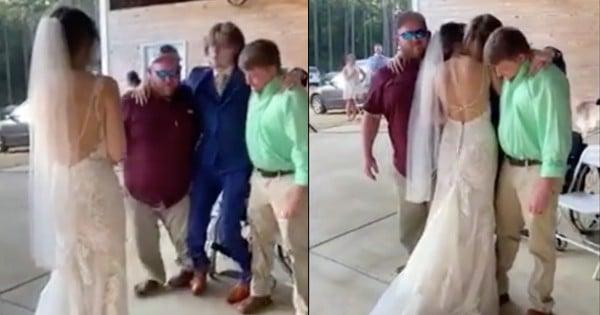 paralyzed groom